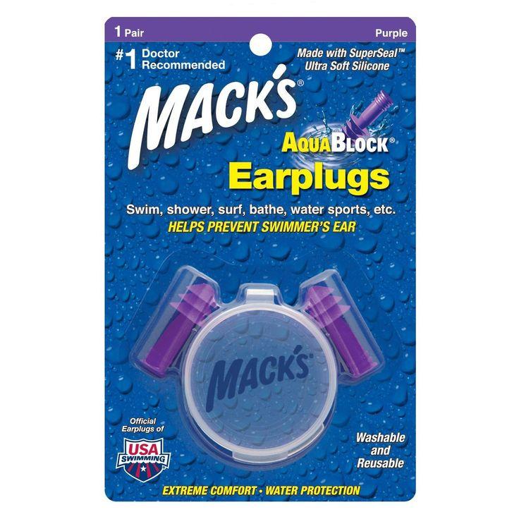 Macks Aqua Block Ear Plugs - Purple, 1 Pair