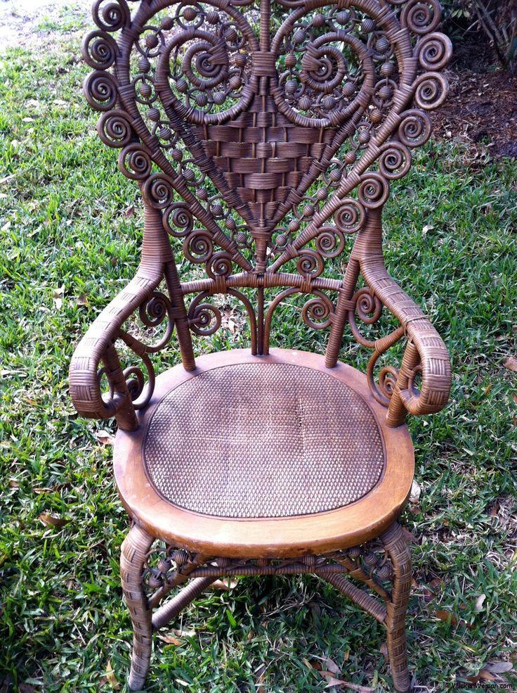 Heart shape victorian wicker lady chair   Valentines   Valentine Craft98 best Antique Wicker Chairs Furniture images on Pinterest  . Rattan Chair Repairs Brisbane. Home Design Ideas