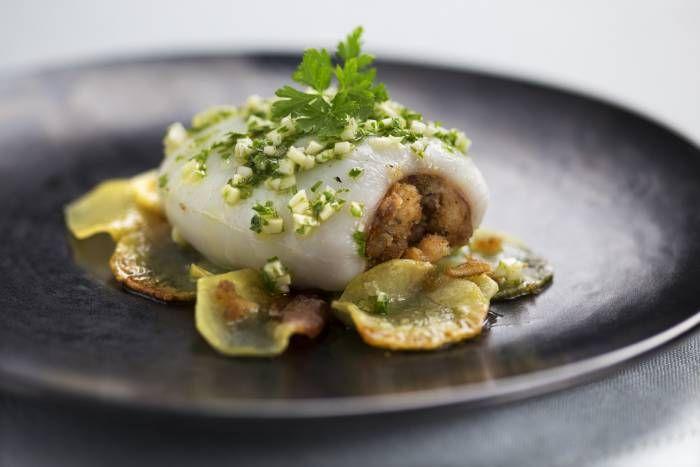 Seppie con ripieno di pesce #Star #ricette #seppie #pesce #ripieno #food #recipes