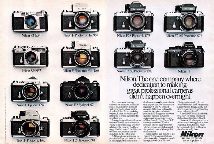 The World Wants Vintage!Vintage Camera Nikon From Nikon S2 1954 to Nikon F2 Photomic 1971