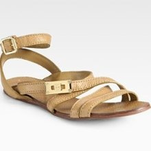 Tory Burch Dalcin Pebbled Leather Gladiator Sandals: My feet are begging me