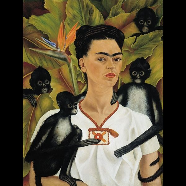 Frida Kahlo, Autoritratto con scimmie, 1943. © The Vergel Foundation, Collezione Jacques and Natasha Gelman, Città del Messico, by SIAE 2014