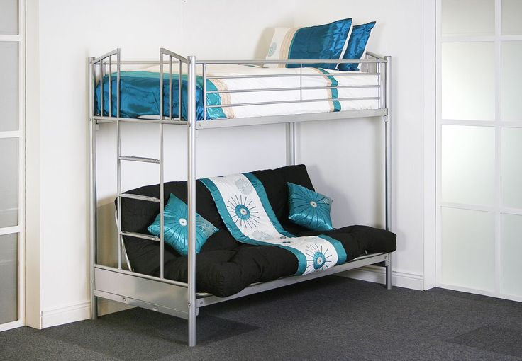 Woodcrest Twin Over Futon Bunk Bed