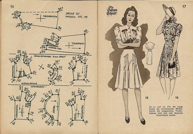 1940s dress pattern draft 11