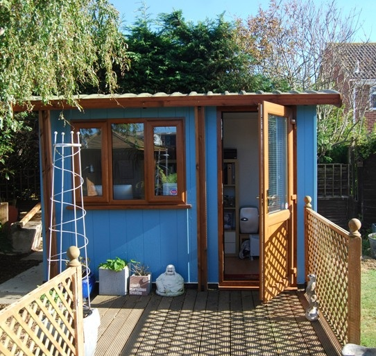 44 best images about writer 39 s backyard retreat on for Outside office shed