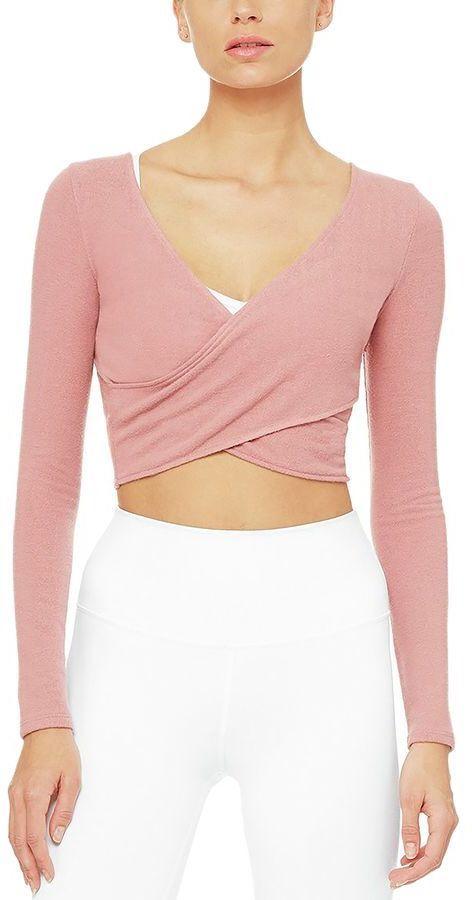 43aa45ba65ed0 Alo Yoga Amelia Luxe Long-Sleeve Crop - Women s