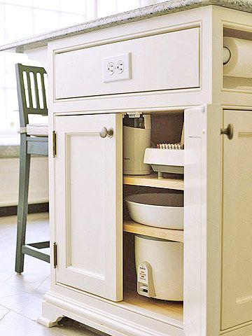 Small Appliance Storage. Kitchen OutletsKitchen ...