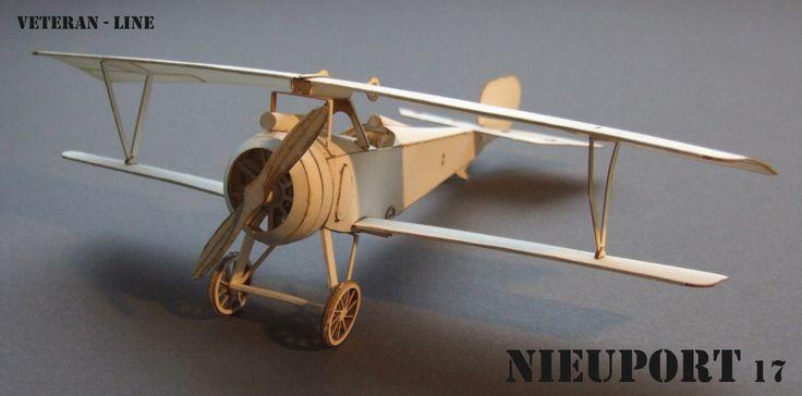 3AS White world - NIEUPORT 17 - papírový model francouzského dvouplošného stíhacího letadla z 1. světové války, paper model of a French biplane fighter aircraft from the 1st World War.