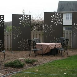 17 best images about dreaming yard on pinterest fence design artificial turf and privacy panels - Your guide to metal fence panels for privacy and safety ...