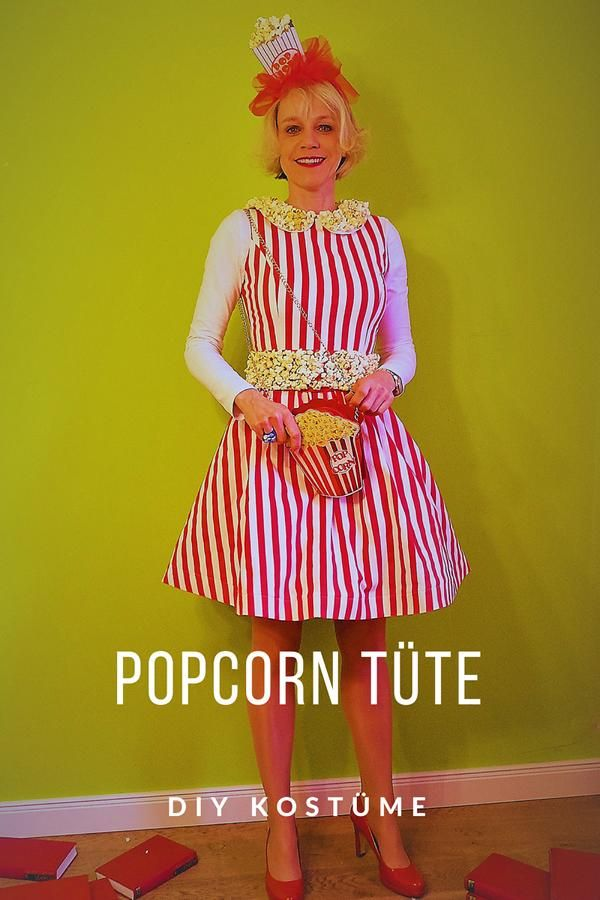 unbeauftragte werbungdiy popcorn tuete kostuem diy