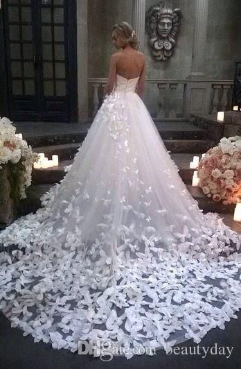 Speranza Couture 2020 Princess Wedding Dresses with Flowers And Butterflies in Cathedral Train Arabic Middle East Church Garden Wedding Gown – Dresses