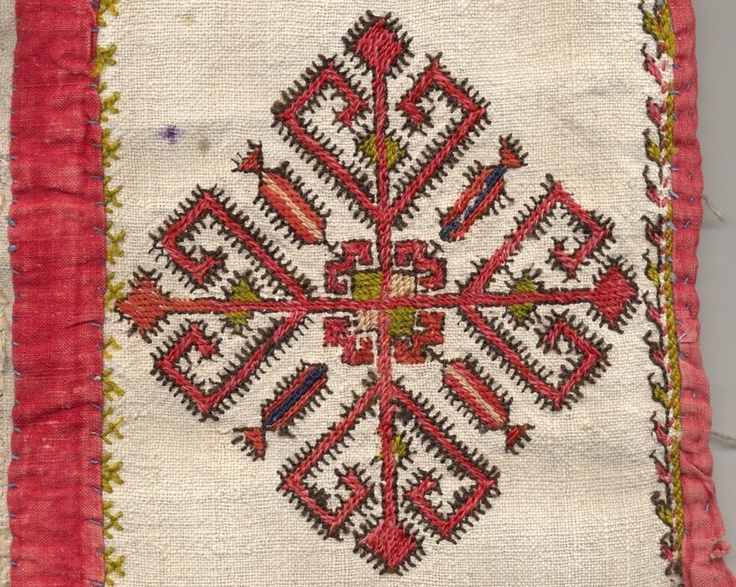 Traditional Chuvash Embroidery pattern