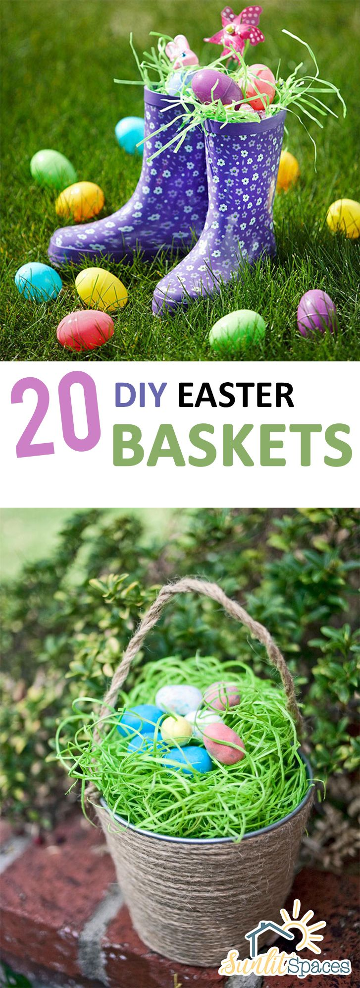 Best 25 homemade easter baskets ideas on pinterest easter 2015 20 diy easter baskets negle Gallery