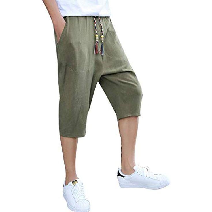T.boys 3/4 Sommer Unifarben Herren Shorts Leinen k…