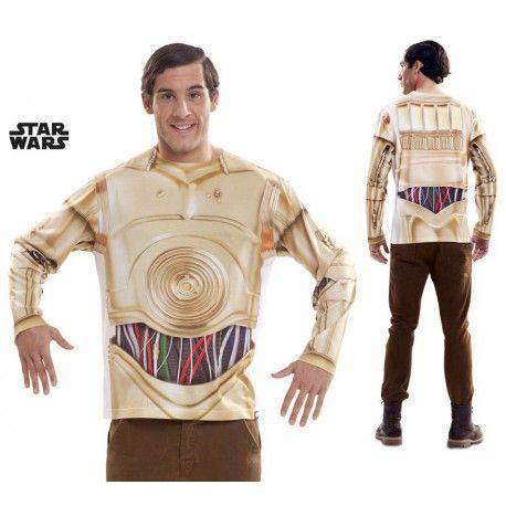 Camiseta C3PO Star Wars La Guerra de las Galaxias #StarWars #C3PO #Disfraz #Camiseta
