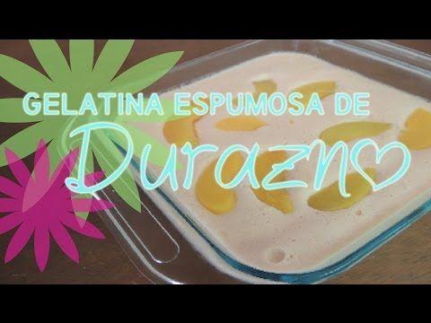 GELATINA DE DURAZNO Gelatina Tres Leches | Receta Fácil sweetvanetv - YouTube
