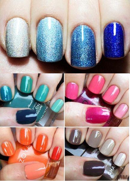 New nail polish shades by mixing old colours!