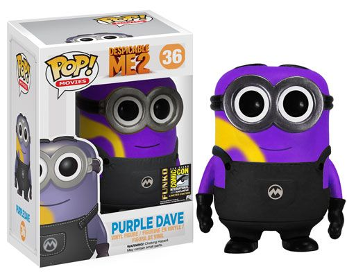 designer jewellery online shopping Funko POP Movies Despicable Me   Purple Dave SDCC   Exclusive Vinyl Figure