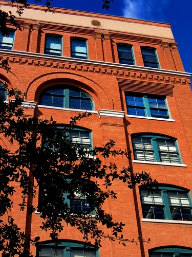 The Texas School Book Depository, Dallas, Texas, now home to the Sixth Floor Museum, the location from which Lee Harvey Oswald allegedly shot President John Kennedy as his motorcade passed.