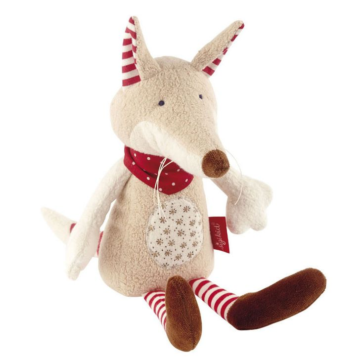 A cuddly companion for toddlers, our velvety soft Organic Fox by Sigikid makes a treasured gift for little ones to cuddle and explore. Young children particularly love the long dangly legs and pointy