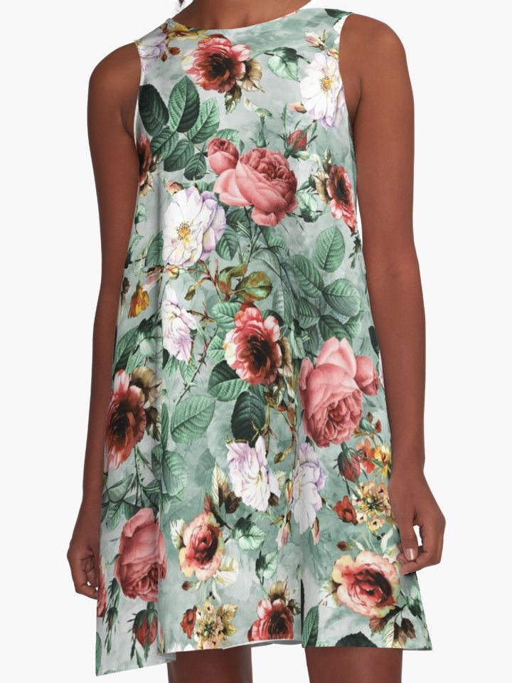Rpe Seamless Floral Pattern I by RIZA PEKER #women #fashion #summer #dress #floral #roses