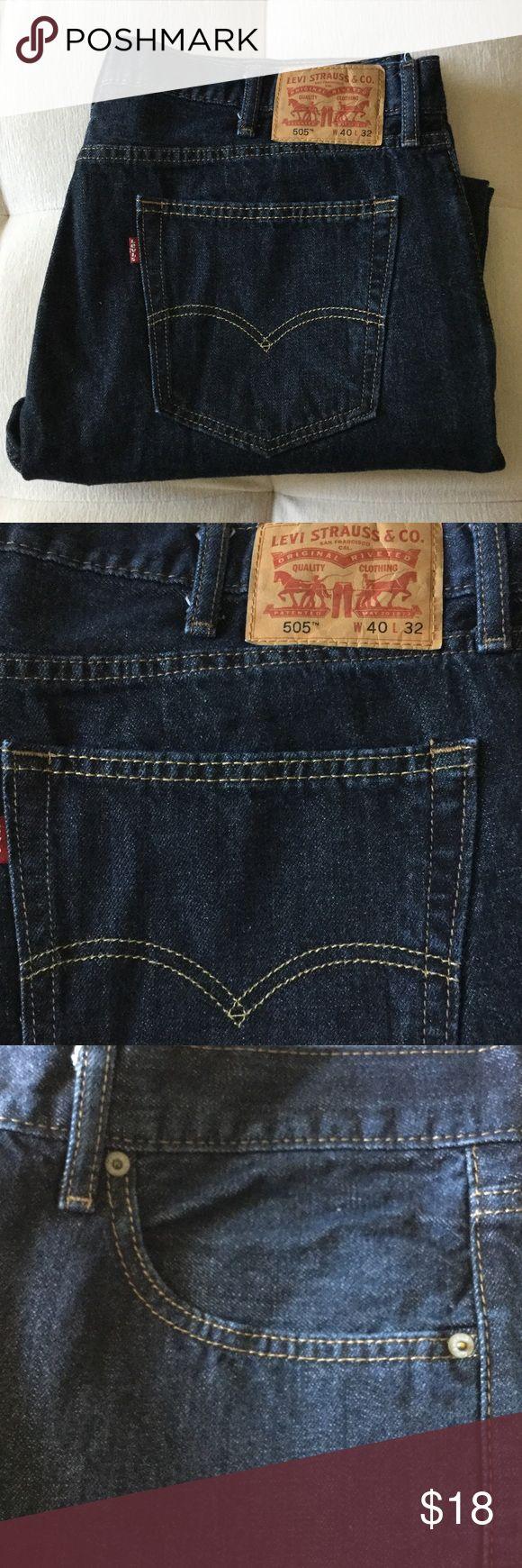 MENS LEVI STRAUSS 505 REGULAR FIT NWOT W 40 L 32 MENS LEVI STRAUSS 505 REGULAR FIT NWOT W 40 L 32 -  Excellent condition. Levi's Jeans