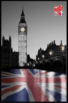 LONDON 2012 OLYMPICS BIG BEN - BY TANYA CHALKIN ロンドンオリンピック ポスター フレームセット