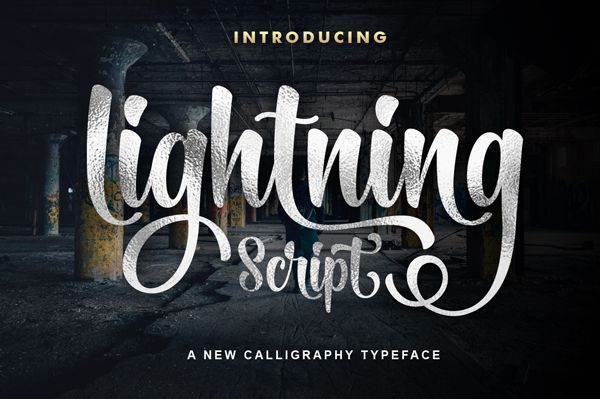Lightning Script #bestfonts #commercialfonts #handwrittenfonts #premiumfonts #scriptfonts #topfonts