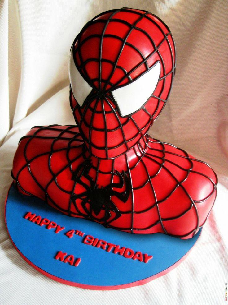 Черный человек паук картинка на торт