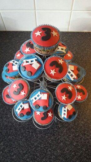 Brandweer cupcakes