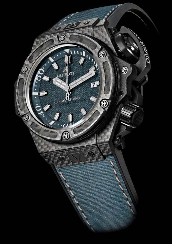 "Hublot has teamed up with Zegg & Cerlati, to create an exclusive special edition, The ""Oceanographic 4000 Jeans"" watch."