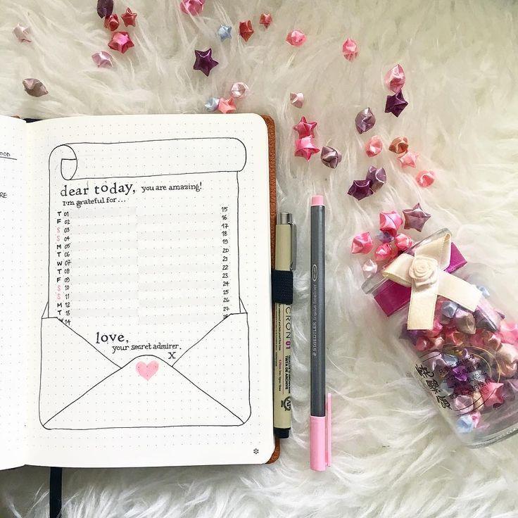 ✦ February Gratitude Log ✦ . Cute little love letter for Today. . . Love, Your Secret Admirer. .