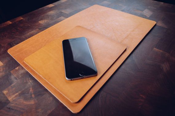 Leather Desk Mat Personalized Desk Pad Leather by PugachProvisions