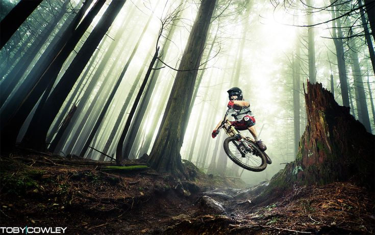Aiken scrubbing out of the fog on the North Shore. Via: Pinkbike