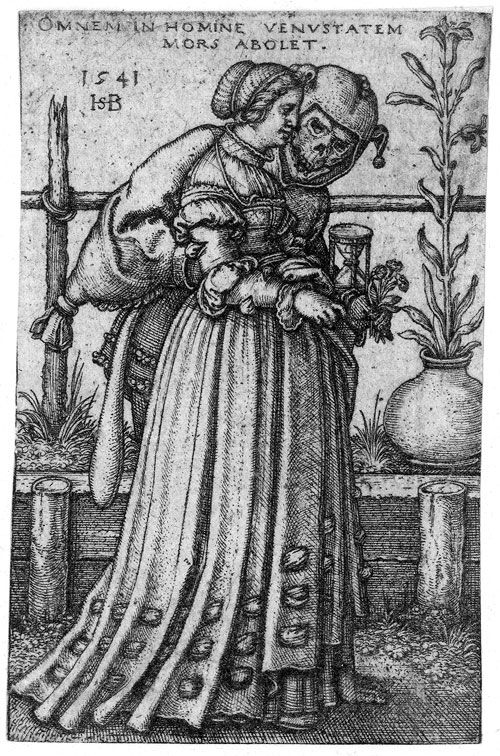 Lady and Death by Sebald Beham,1541