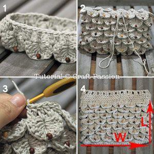 crocodile stitch in round