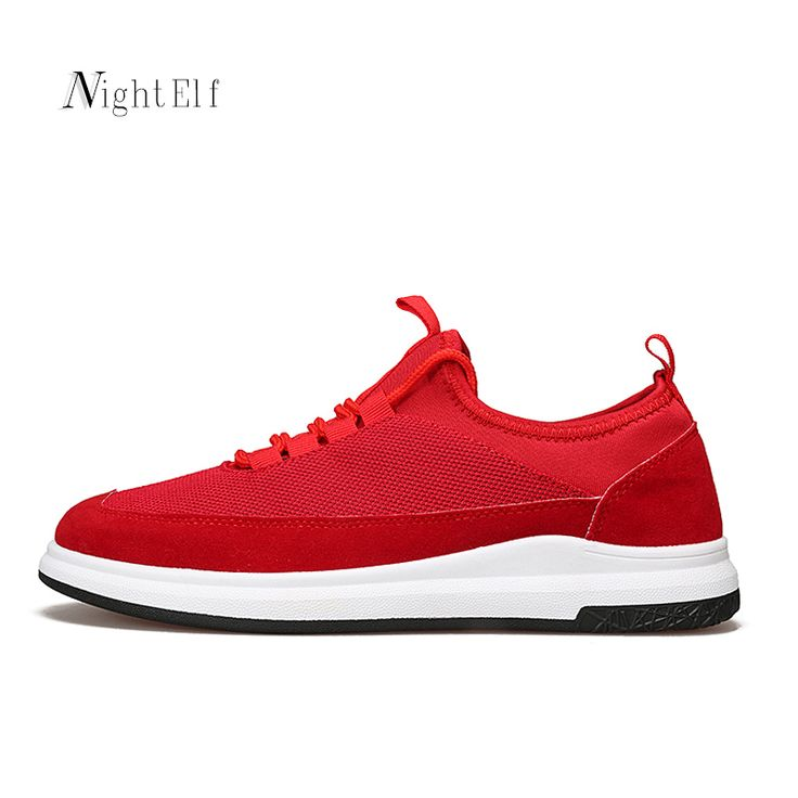 Night Elf running shoes for men breathable sneakers men black red air mesh low cut rubber bottom stable sport shoes men 2017  #Affiliate