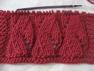 knitting with a crochet hook ... not crochet, not even Tunisian crochet