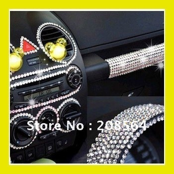 260 Pcs Set Beauty Dot Say It In Crystals Rhinestones Car DIY Decal Decor Stickers Styling Accessories