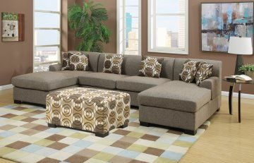 Hayward Sandstone Small U-Shaped Sectional Sofa Set | Urban Cali | Free Shipping