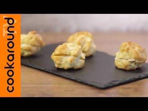 Bignè salati farciti con salsa al tonno / Ricetta semplice e veloce - YouTube