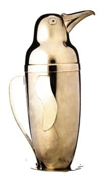 Emil A. Schuelke, penquin cocktail shaker, c.1936 Repinned by www.silver-and-grey.com