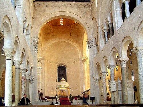 Inside Bari Cathedral