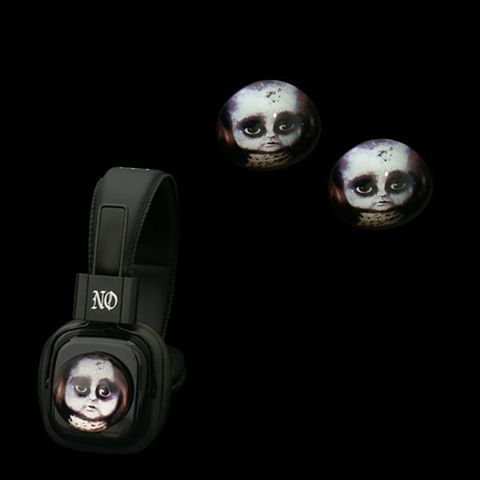 Headphones with Creepy Doll Glass Domes  http://noddders.com/product/creepy-headphones-crystal/  #subculture #gothic #victorian #steampunk #retro #vintage #comics #cartoon #characters #creepy #goth #punk #blackjewelries #gothstyle #gothicfashion #skulls #alternative #underground #collection #collectibles #style #stylish #cemetery #graveyard #macabre #emo #anime #music #headphones #glassdomes