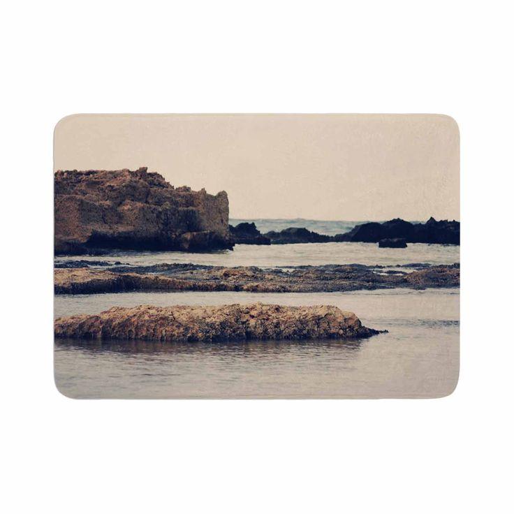 "Sylvia Coomes ""Mediterranean II"" Blue Tan Memory Foam Bath Mat"