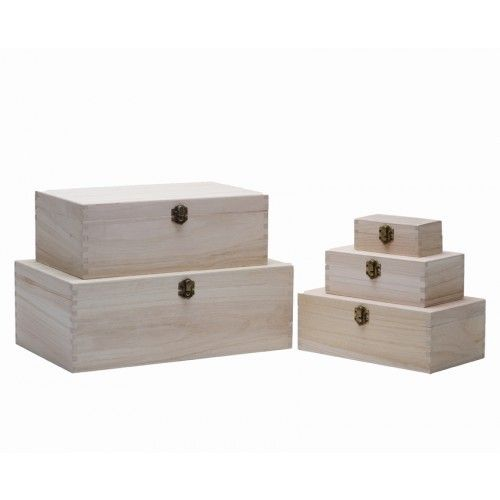 Rectangular Plain Wooden Boxes - many sizes to choose from! - Square & Rectangular Boxes - Plain Wooden Boxes | The Wooden Box Mill