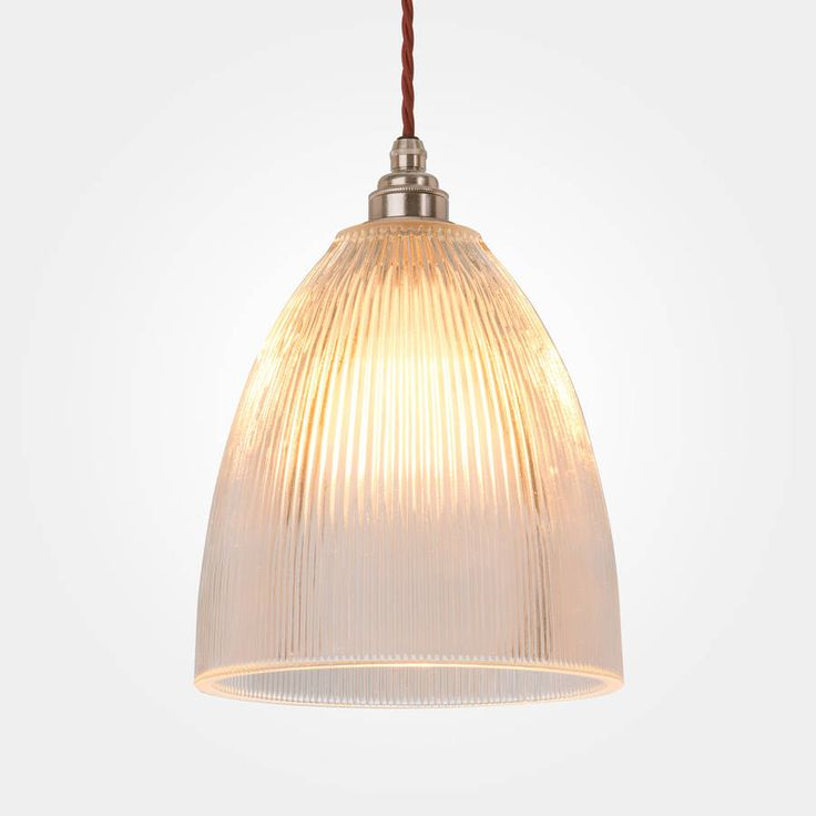 vintage style prismatic railway pendant light bell by artifact lighting | notonthehighstreet.com