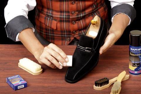 Очистить обувь от соли