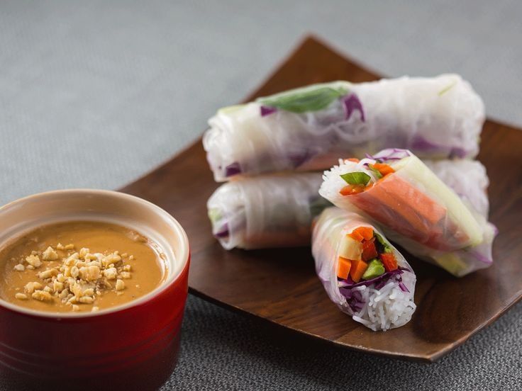 Did you know Silk® has a ton of tasty recipes, like  this one for Spring Rolls with Coconut Peanut Sauce? http://silk.com/recipes/spring-rolls-coconut-peanut-sauce