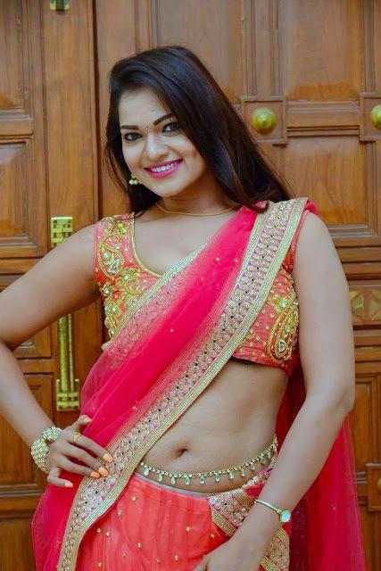 Beauty Galore Hd Ashwini Hot Stills In Half Saree Exposing Deep Nav